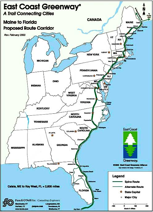 Map East Coast Us